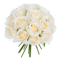Bukiet róż biały Ø26cm