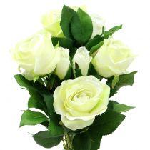 Bukiet róż w kremie 48cm
