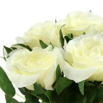 Bukiety róż białe L26cm 3szt