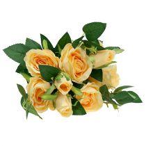 Bukiet róż kremowy L46cm