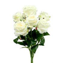 Bukiet Róż Biały, Kremowy 55cm