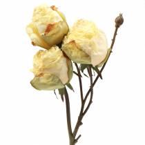 Róża gałązka sztuczna kremowa biała 45cm