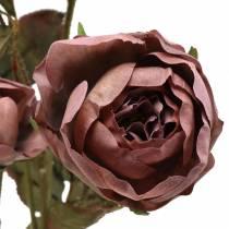 Róża gałązka sztuczna fioletowa 76cm