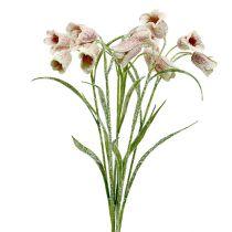 Kwiat szachowy biało-różowy śniegowy L45cm 6szt