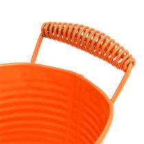 Miska owalna pomarańczowa 20 cm x 12 cm wys. 9 cm