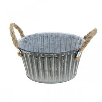 Misa do sadzenia, metalowa miska z uchwytami, dekoracyjna miska do sadzenia Ø18cm