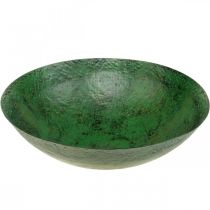 Deco Bowl Large Metal Green Vintage Dekoracja stołu Ø42cm