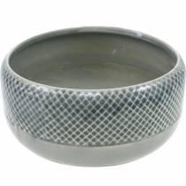 Donica ceramiczna, misa z motywem kosza, donica okrągła Ø18cm