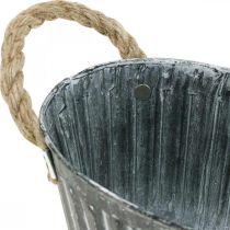 Metalowa donica, misa na kwiaty do sadzenia, ozdobna misa z uchwytami L22,5cm