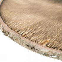 Deco Dysk drewniany płomieniowany Rustykalna sklejka drewniana Deco Ø20cm