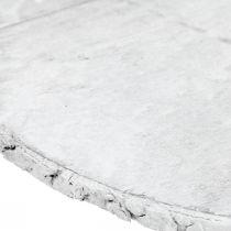 Deco Dysk drewniany z korą biała sklejka podkładka Ø20cm