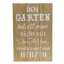"""Drewniany znak do powieszenia """"ogrodowy"""" 20cm x 30cm 2szt"""