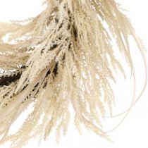 Deco Wianek Trawa pampasowa i trzcina sztuczna kremowa 70cm