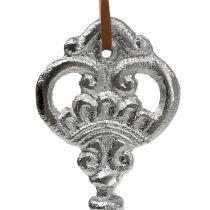 Klucz srebrny do zawieszenia 15,5cm 2szt.