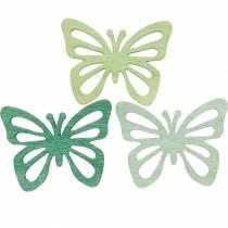 Rozsypane dekoracje motyle, wiosna, motyle wykonane z drewna, dekoracja stołu do rozsypania 72szt.
