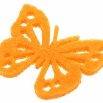 Filcowy Motyl Stół Dekoracja Asortyment 3,5×4,5cm 54 sztuki Różne kolory