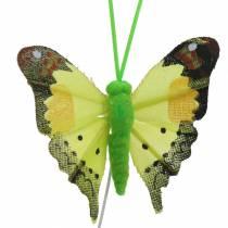 Motyl dekoracyjny z drucikiem asortyment 5cm 24szt.