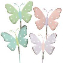 Zatyczka kwiatowa motyl pastelowa 24cm 12szt.