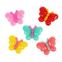 Motyle mini 2cm kolorowe 24szt