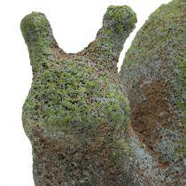 Figura ogrodowa ślimak mech 31cm x 17cm H17cm