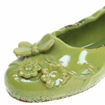 Planter Obuwie Damskie Ceramiczny Zielony 24cm