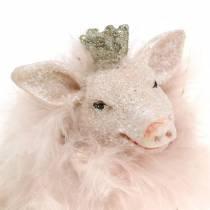 Figurka dekoracyjna świnka lucky charm 9cm 2szt.