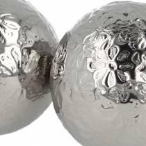 Kwiaty pływające metalowe srebrne Ø5,5cm Asortyment 6szt.