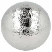 Kwiaty kuliste pływające metal srebrny Ø10cm
