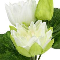 Lilie wodne sztuczne białe 35cm