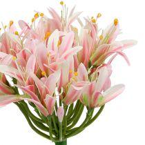Kwiat jedwabny Agapanthus Pink 80cm