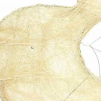 Mankiet sizalowy serce bielony 25,5cm 10szt.