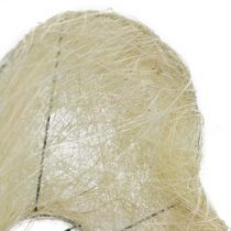 Mankiet sizalowy bielone serce 27cm 1szt