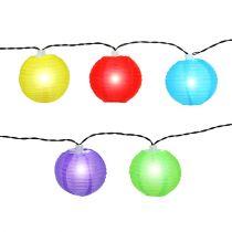 Łańcuch słonecznej latarni LED kolorowy 4,5m 10 żarówek zimny biały