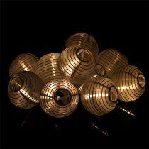 Łańcuch solarny LED 4,5m biały 10 żarówek