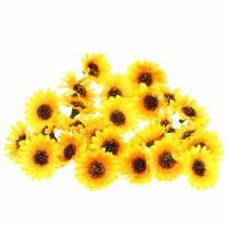 Dekoracja rozproszona główki słoneczników żółte Ø3,3cm 100szt.