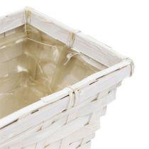 Spank zestaw koszyczek kątowy bielony 8szt 20cm x 11cm