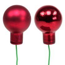 Jagody lustrzane czerwone mix Ø25mm 140szt
