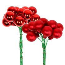 Mirror Berries Red Matt, Shiny Ø1,5cm 140szt.