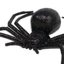 Pająk czarny 16cm z miką
