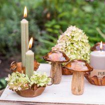 Świeczka Stick Candle zielona barwiona na wylot Premium Candle 120mm/Ø21mm 6szt.