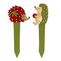 Jeż wtyczkowy czerwony, zielony 13cm 16szt.