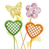 Zestaw zatyczek do kwiatów kolorowych. 5,5cm - 6cm 12szt.