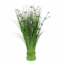 Deco bukiet stojący z kwiatów łąkowych sztuczny lilak 51cm