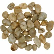 Kamienie rzeczne naturalne kremowe 2-4cm 1kg