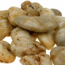 Kamienie rzeczne natura crème 3-5cm 1kg