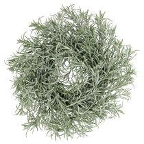 Wieniec dekoracyjny Ø30 cm z brokatem zielonym