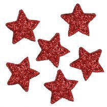 Gwiazdka brokat 1,5cm do posypki czerwona 144szt