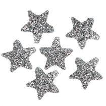 Brokat gwiazdkowy 1,5cm do rozsypywania srebra 144szt