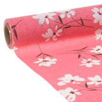 Tkanina dekoracyjna kwiaty różowe 30cm x 3m