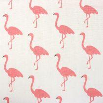 Tkanina dekoracyjna Flamingo White-Pink 30cm x 3m